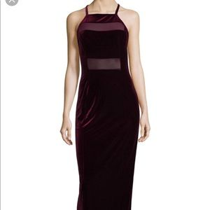 Bailey 44 Shalom gown in berry.